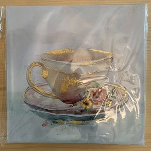 Coffee Cup & Saucer Wall Art Canvas